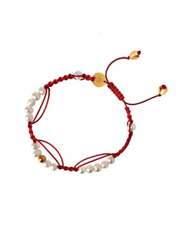 czerwona bransoletka Sea Star