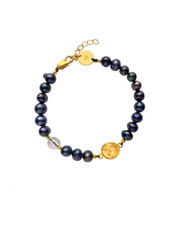 Bransoletka z czarnymi perłami Mystic Enchantressntress