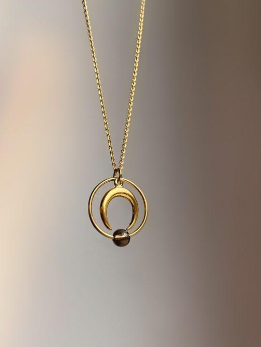 naszyjnik księżyc Eclipse__Iluzja Jewellery