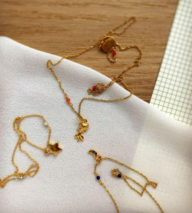 biżuteria złota i biżuteria pozłacana - złote naszyjniki - Iluzja Jewellery