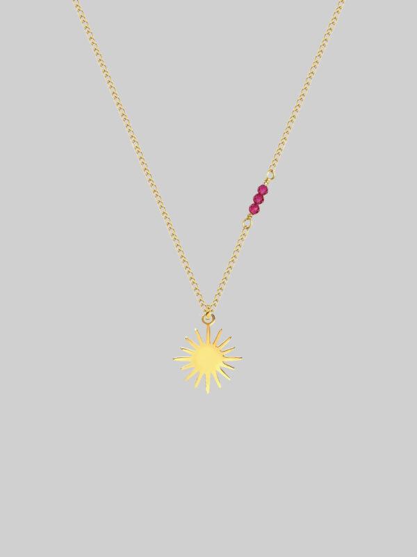 naszyjnik z rubinami cosmic princess