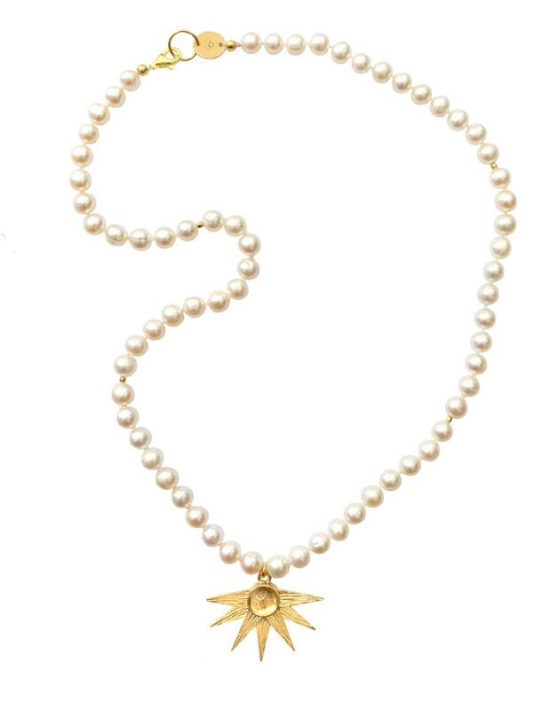 Długi naszyjnik z pereł Alcyone Crystal Pearl Iluzja Jewellery