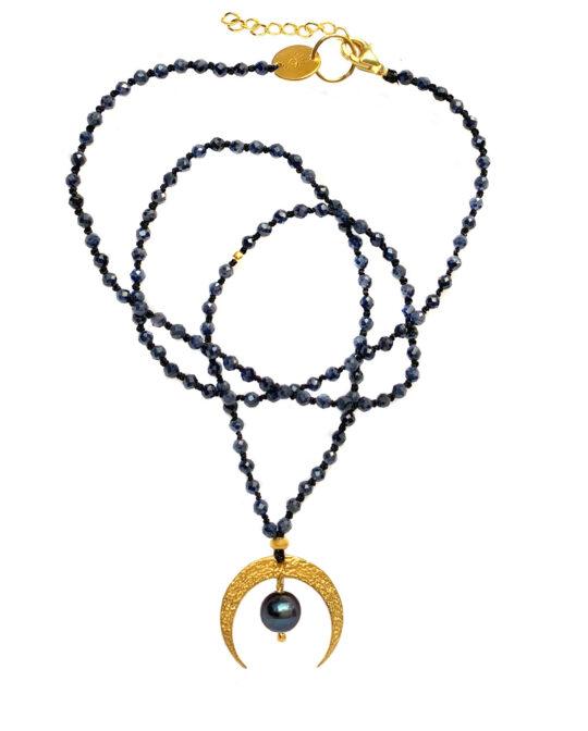 naszyjnik z szafirami velvet moon - Iluzja Jewellery