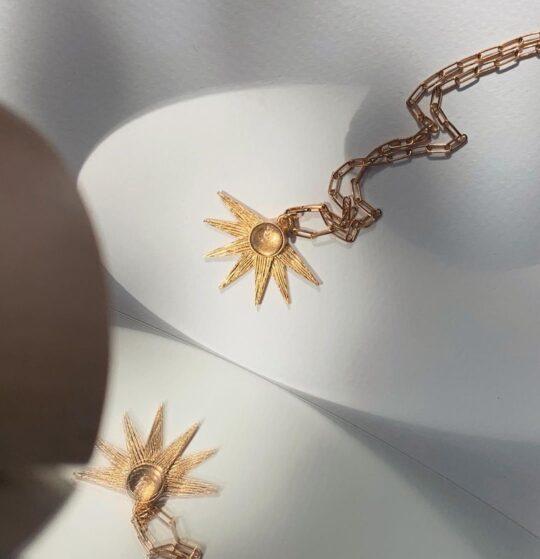 naszyjnik z górskim kryształem alcyone crystal Iluzja Jewellery _ Sun of Lemuria