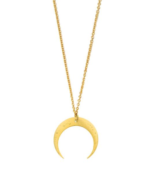Naszyjnik złoty księżyc złota lunula Only Moon Iluzja Jewellery