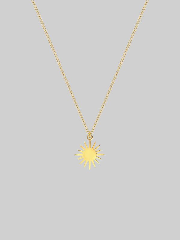złoty naszyjnik z gwiazdka