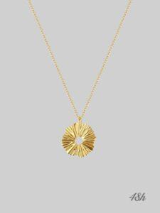 naszyjnik kwiat słońce