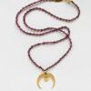 Naszyjnik z granatami i rubinem Passion Moon Iluzja Jewellery