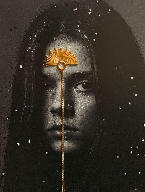 Naszyjnik gwiazda Sirius Gold Sun of Lemuria