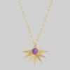 Ametyst naszyjnik Alcyone Purple Flame Iluzja Jewellery