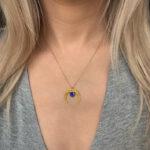 naszyjnik lunula z lapis lazuli iluzja jewellery