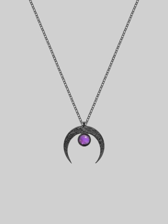 naszyjnik czarny ametyst iluzja jewellery