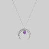 lunula z ametystem srebrna iluzja jewellery