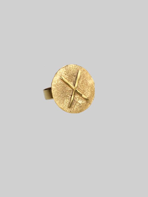 pierscionek z runą gebo gold iluzja jewellery