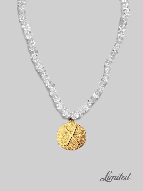 Naszyjnik z kryształami Gebo Crystal iluzja jewellery