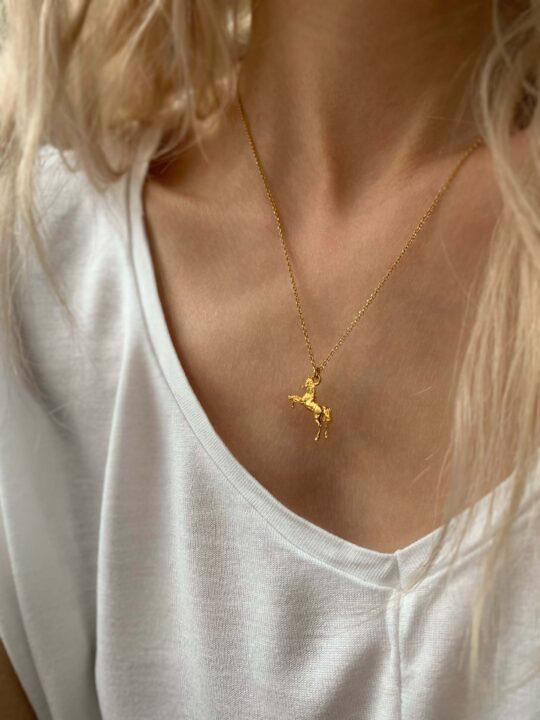 naszyjnik z jednorożcem iluzja jewellery