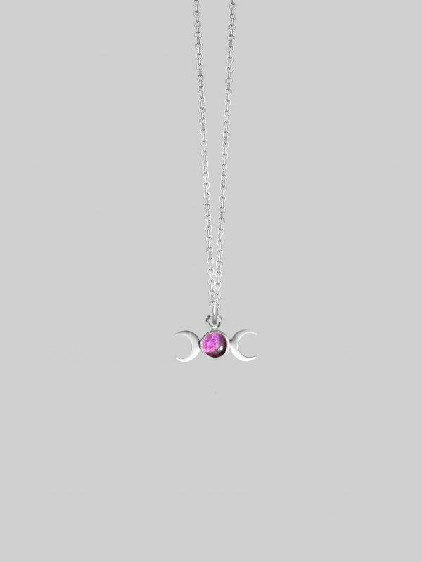 Naszyjnik ametyst Hekate Silver Iluzja Jewellery
