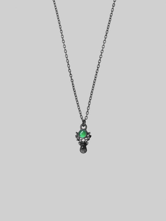 Naszyjnik jeleń z zielonym onyksem Iluzja Jewellery