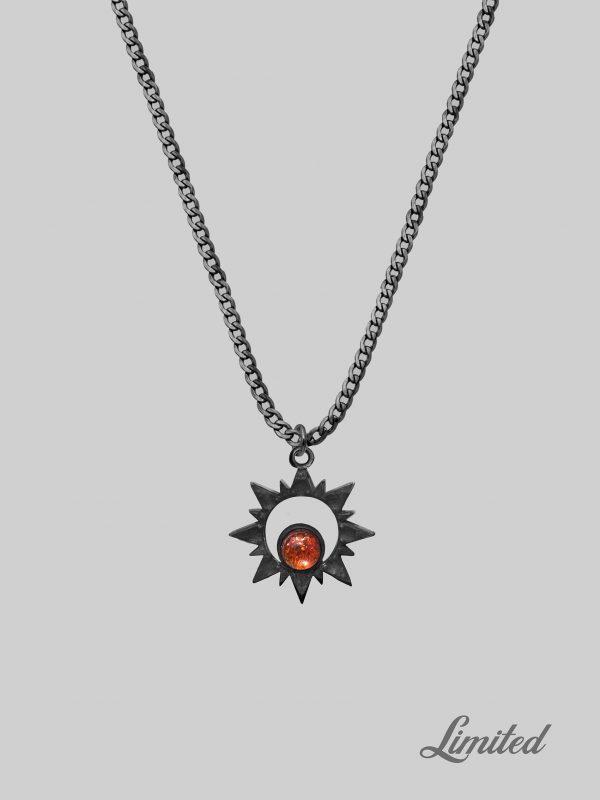 Czarny łańcuszek Blazing Sun Bold Black iluzja jewellery