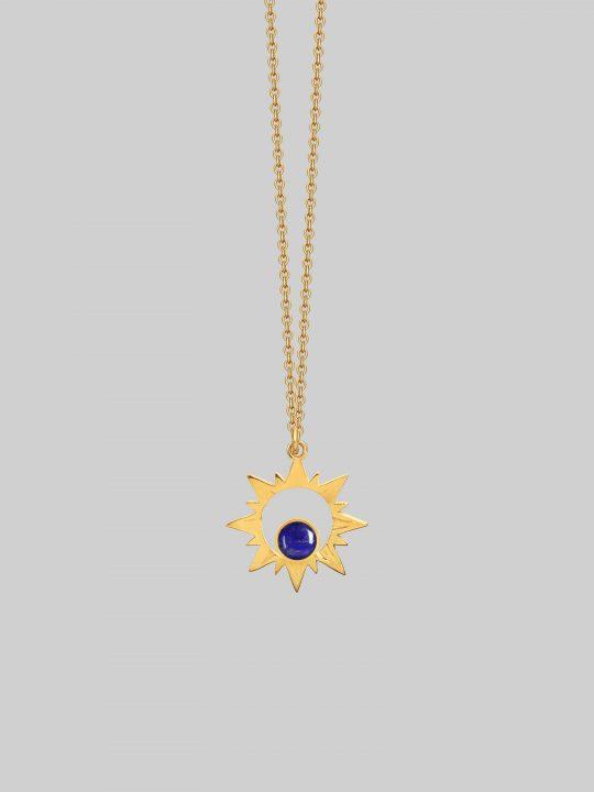 Royalty Sun Light Gold to - piękny naszyjnik lapis lazuli iluzja jwellery