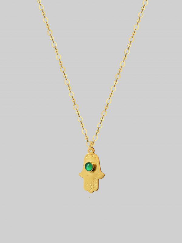 Naszyjnik Ręka Fatimy Hand of Protection and Balance Gold iluzja jewellery