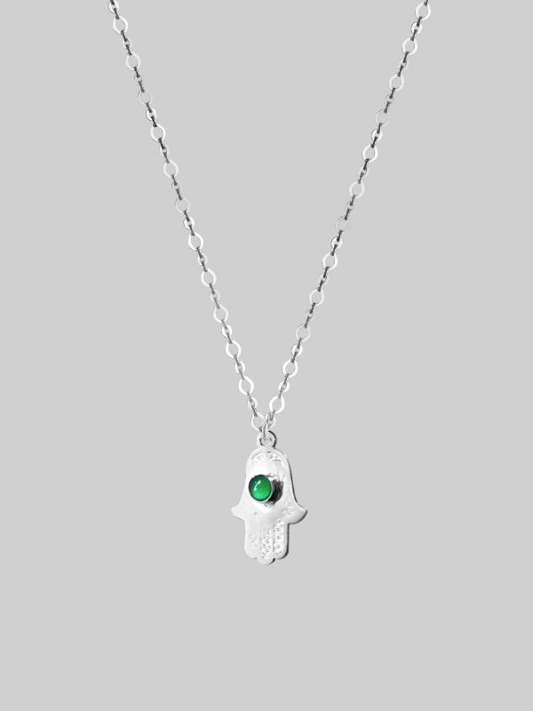 ochronny Naszyjnik Hand of Protection and Balance Silver Iluzja Jewellery